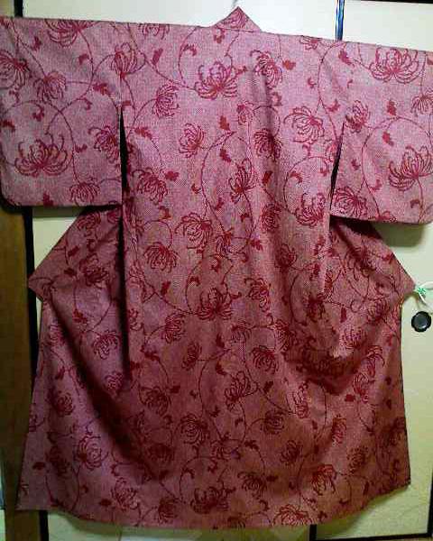 絞り糸菊 浴衣