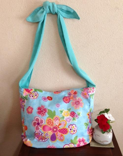 花いろはの生地でバッグ