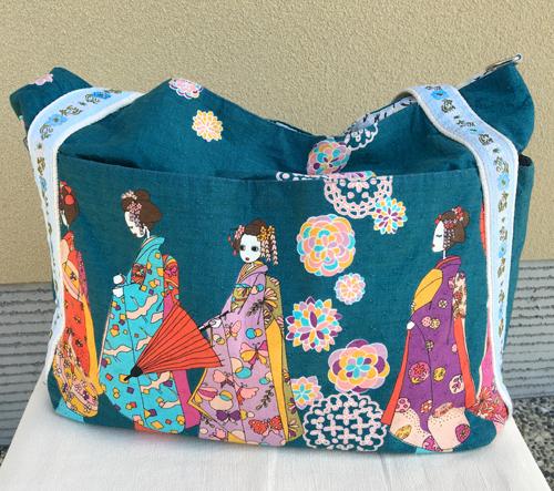 舞妓柄布製トートバッグ