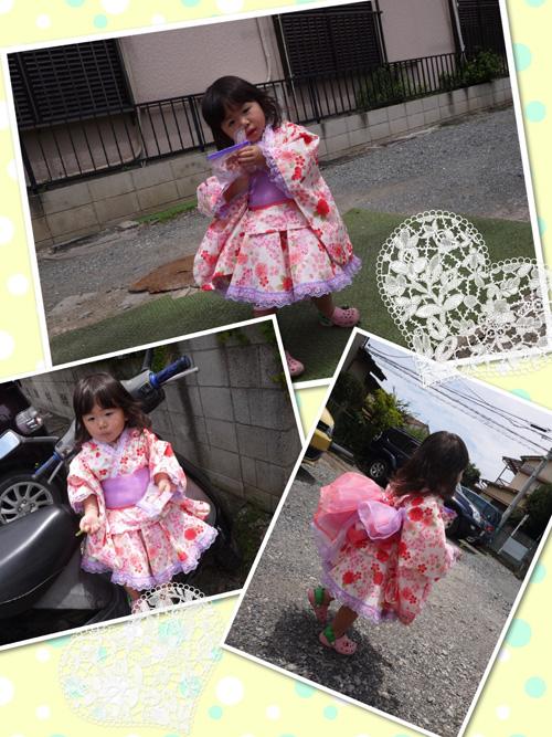 桜と蝶々の浴衣