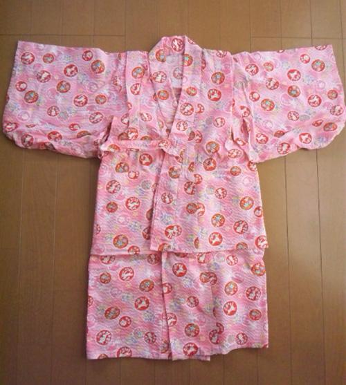 シャボン玉うさぎ(ピンク)で浴衣★